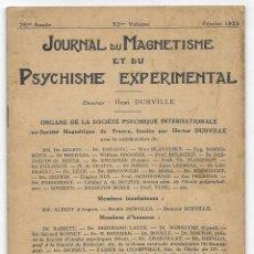 Libros antiguos: JOURNAL DU MAGNETISME ET DU PSYCHISME EXPERIMENTAL. FÉVRIER 1925. Lote 206806525