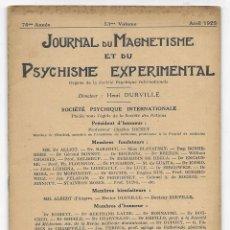 Libros antiguos: JOURNAL DU MAGNETISME ET DU PSYCHISME EXPERIMENTAL. AVRIL 1925. Lote 206806708