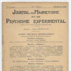 Libros antiguos: JOURNAL DU MAGNETISME ET DU PSYCHISME EXPERIMENTAL. NOVEMBRE 1925. Lote 206806943