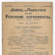 Libros antiguos: JOURNAL DU MAGNETISME ET DU PSYCHISME EXPERIMENTAL. JANVIER 1926. Lote 206807233