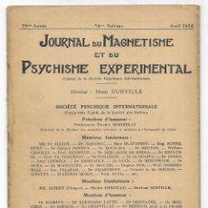 Libros antiguos: JOURNAL DU MAGNETISME ET DU PSYCHISME EXPERIMENTAL. AVRIL 1926. Lote 206807402