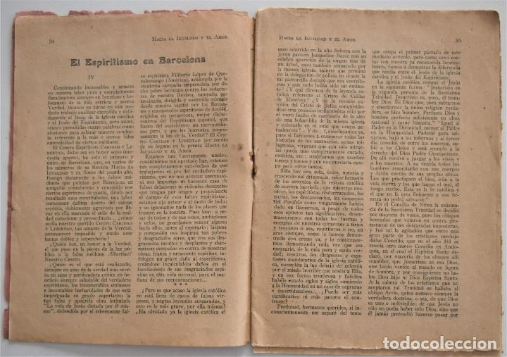 Libros antiguos: HACIA LA IGUALDAD Y EL AMOR, REVISTA MENSUAL ESPIRITISTA Nº 62 - FEBRERO 1926 - Foto 4 - 206812131