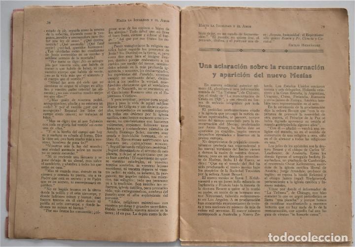 Libros antiguos: HACIA LA IGUALDAD Y EL AMOR, REVISTA MENSUAL ESPIRITISTA Nº 62 - FEBRERO 1926 - Foto 5 - 206812131