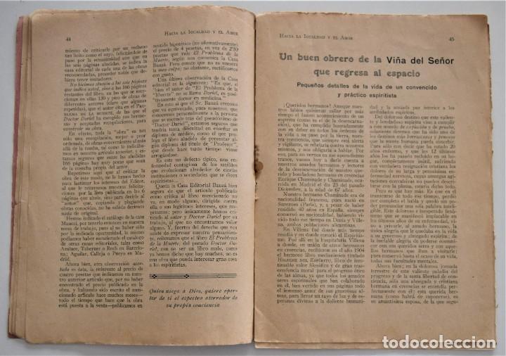 Libros antiguos: HACIA LA IGUALDAD Y EL AMOR, REVISTA MENSUAL ESPIRITISTA Nº 62 - FEBRERO 1926 - Foto 6 - 206812131