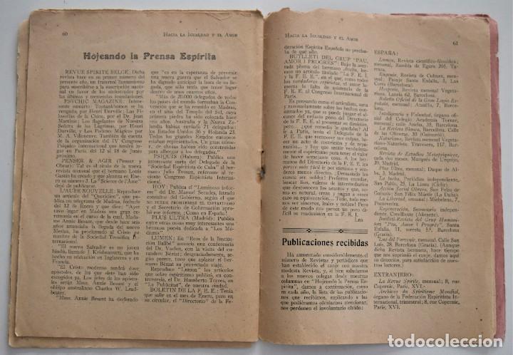 Libros antiguos: HACIA LA IGUALDAD Y EL AMOR, REVISTA MENSUAL ESPIRITISTA Nº 62 - FEBRERO 1926 - Foto 7 - 206812131