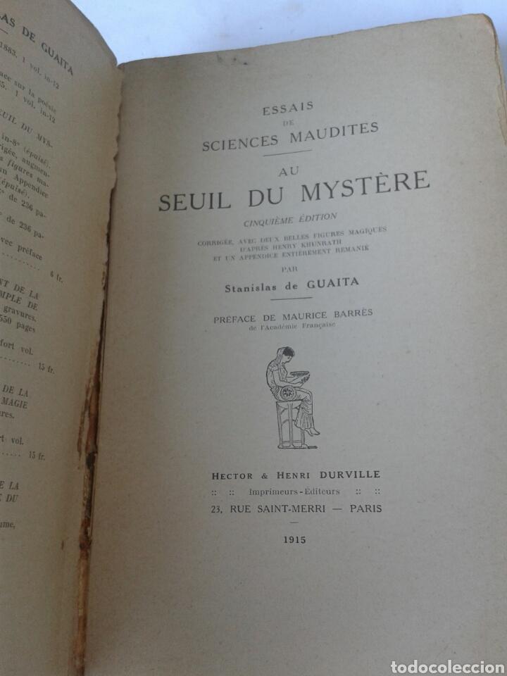 Libros antiguos: ESSAIS DE SCIENCES MAUDITES - AU SEUIL DU MYSTERE - 1915 - Foto 2 - 206904192