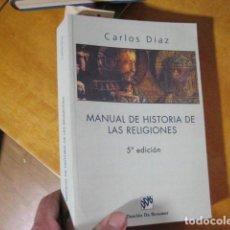 Libri antichi: MANUAL DE HISTORIA DE LAS RELIGIONES. DÍAZ, CARLOS. ED. DESCLÉE DE BROUWER.. Lote 207084626