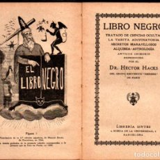 Libros antiguos: HACKS : LIBRO NEGRO (SINTES, C. 1930) EDICIÓN LIMITADA DE 100 EJEMPLARES - COMO NUEVO. Lote 211601122