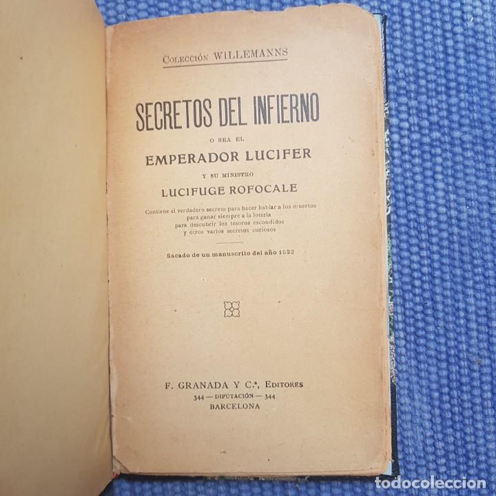 Libros antiguos: Secretos del Infierno o sea del emperador Lucifer y su ministro Lucifuge Rofocale - Foto 2 - 213908787