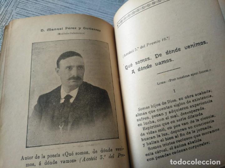 Libros antiguos: MUY RARO: JUEGOS FLORALES ESPIRITISTAS (BARCELONA, 1902) - ÁLBUM RESEÑA DE DICHA FIESTA - Foto 7 - 214051093