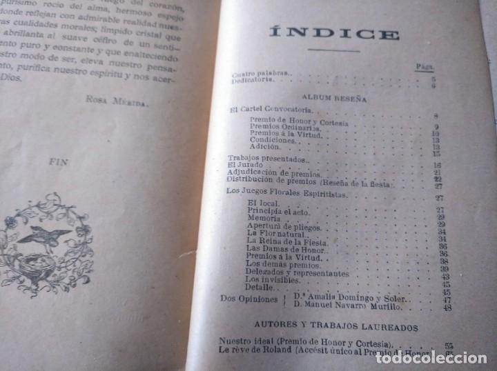 Libros antiguos: MUY RARO: JUEGOS FLORALES ESPIRITISTAS (BARCELONA, 1902) - ÁLBUM RESEÑA DE DICHA FIESTA - Foto 8 - 214051093