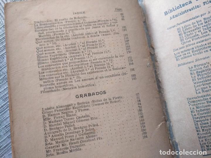 Libros antiguos: MUY RARO: JUEGOS FLORALES ESPIRITISTAS (BARCELONA, 1902) - ÁLBUM RESEÑA DE DICHA FIESTA - Foto 9 - 214051093