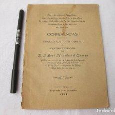 Libros antiguos: CONSIDERACIONES SOBRE LA EXISTENCIA DE DIOS. AUTÓGRAFO DE J. NAVEDA DEL CAMPO. CASTRO-URDIALES 1908. Lote 214527467