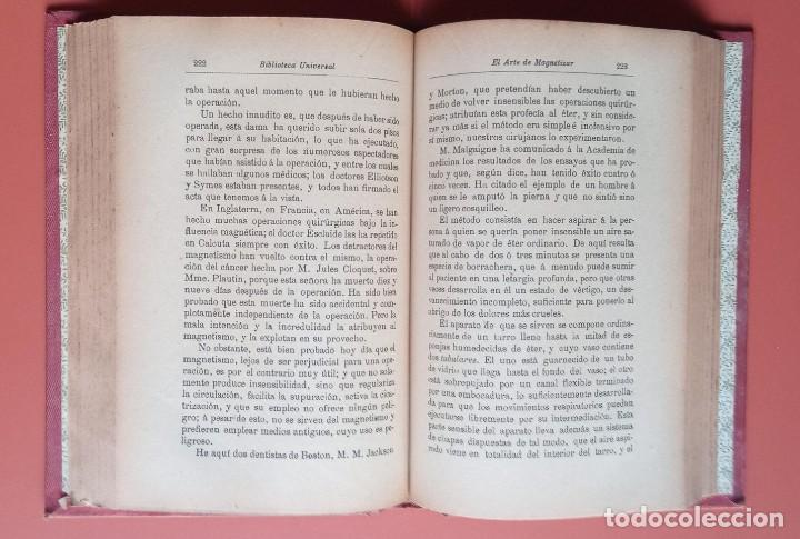 Libros antiguos: EL ARTE DE MAGNETIZAR - ESPIRITISMO - MAGNETISMO - HIPNOTISMO - TEOSOFÍA - OCULTISMO -CH. LAFONTAINE - Foto 5 - 215500641