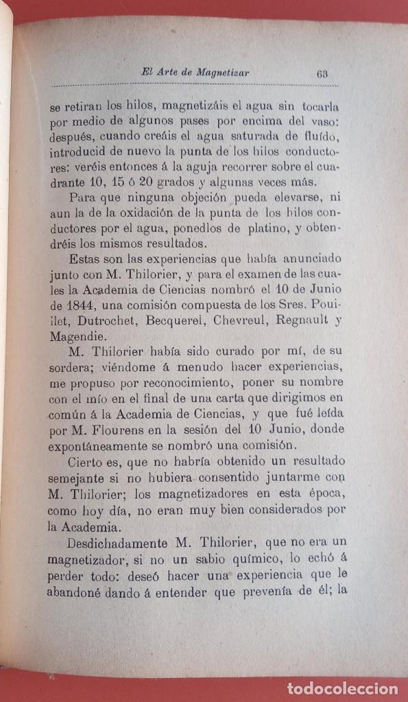 Libros antiguos: EL ARTE DE MAGNETIZAR - ESPIRITISMO - MAGNETISMO - HIPNOTISMO - TEOSOFÍA - OCULTISMO -CH. LAFONTAINE - Foto 6 - 215500641