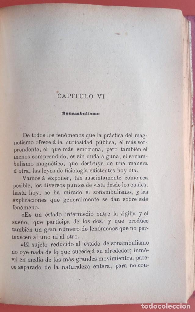 Libros antiguos: EL ARTE DE MAGNETIZAR - ESPIRITISMO - MAGNETISMO - HIPNOTISMO - TEOSOFÍA - OCULTISMO -CH. LAFONTAINE - Foto 8 - 215500641