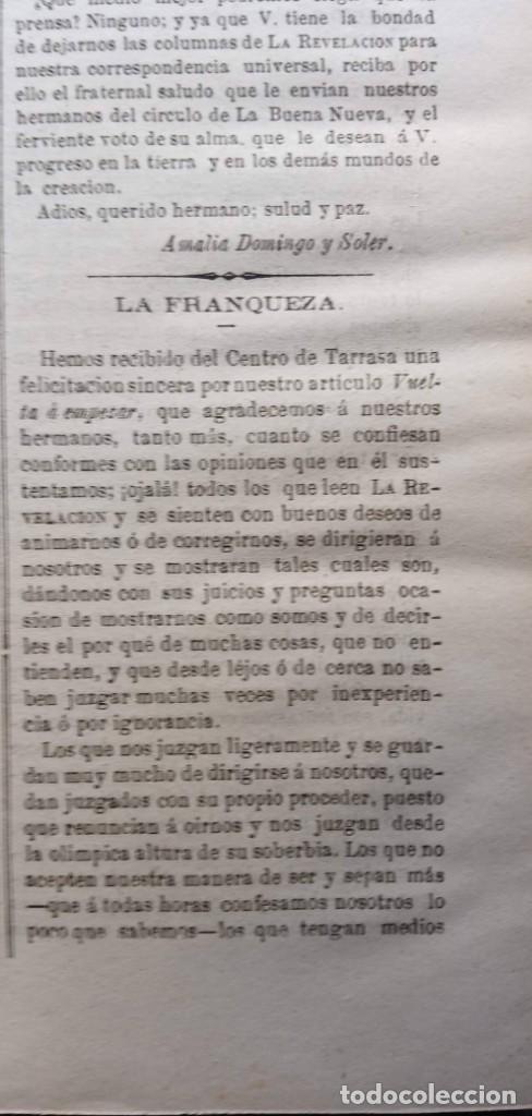 Libros antiguos: LA REVELACION - REVISTA ESPIRITISTA - 1878 - 1879 - 1880 - 3 AÑOS COMPLETOS - Foto 10 - 215831236