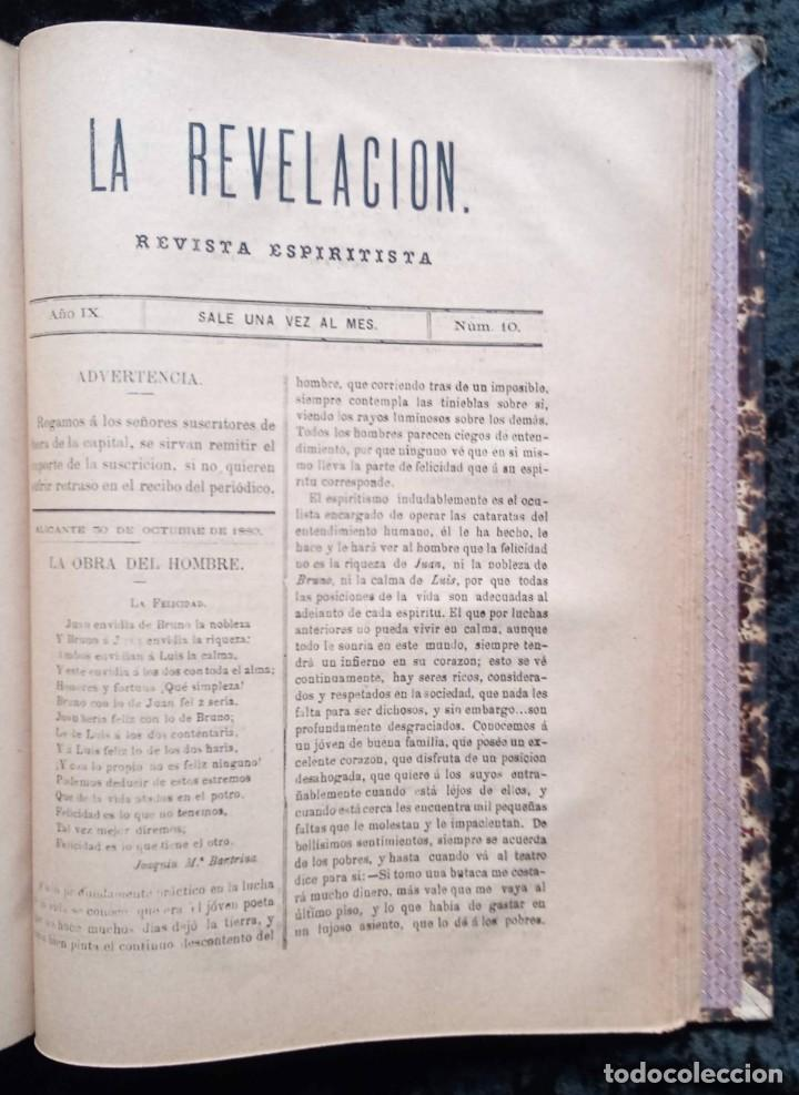 Libros antiguos: LA REVELACION - REVISTA ESPIRITISTA - 1878 - 1879 - 1880 - 3 AÑOS COMPLETOS - Foto 12 - 215831236