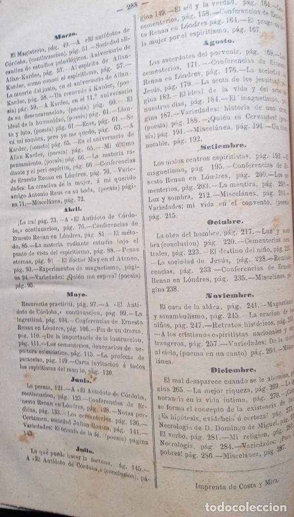 Libros antiguos: LA REVELACION - REVISTA ESPIRITISTA - 1878 - 1879 - 1880 - 3 AÑOS COMPLETOS - Foto 18 - 215831236