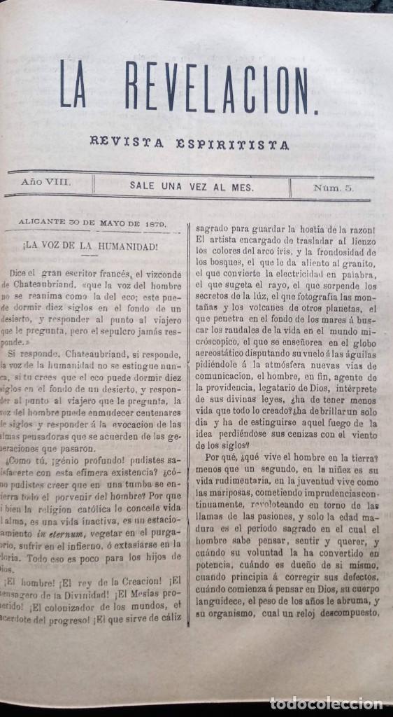 Libros antiguos: LA REVELACION - REVISTA ESPIRITISTA - 1878 - 1879 - 1880 - 3 AÑOS COMPLETOS - Foto 20 - 215831236