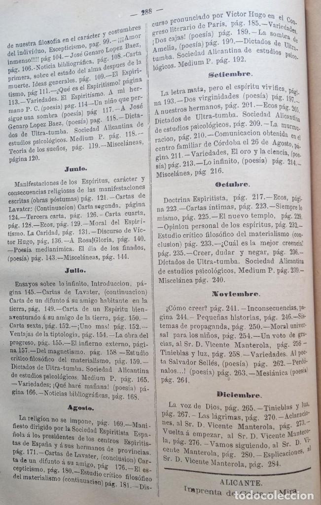 Libros antiguos: LA REVELACION - REVISTA ESPIRITISTA - 1878 - 1879 - 1880 - 3 AÑOS COMPLETOS - Foto 23 - 215831236