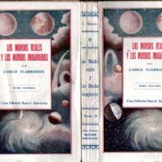 Libros antiguos: FLAMMARION : LOS MUNDOS REALES Y LOS MUNDOS IMAGINARIOS - DOS TOMOS (MAUCCI). Lote 215937283