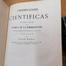 Libros antiguos: CAMILO FLAMMARION. CONTEMPLACIONES CIENTÍFICA. 1879. Lote 216683872