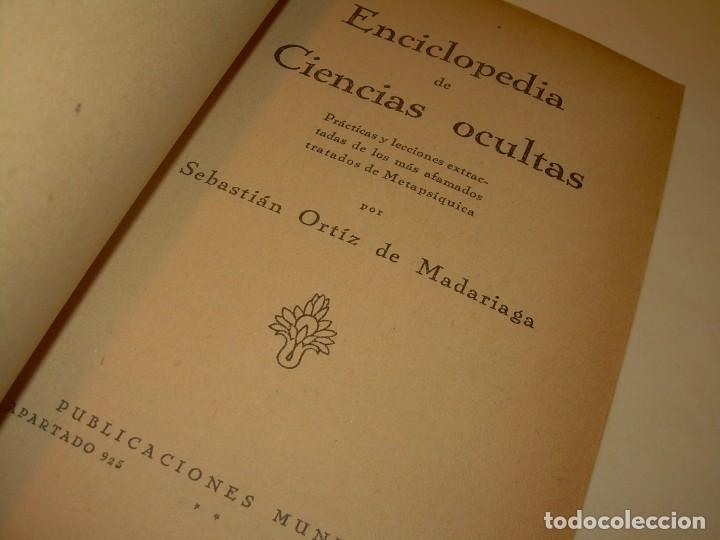 Libros antiguos: ENCICLOPEDIA DE LAS CIENCIAS OCULTAS..1936. - Foto 2 - 218780502
