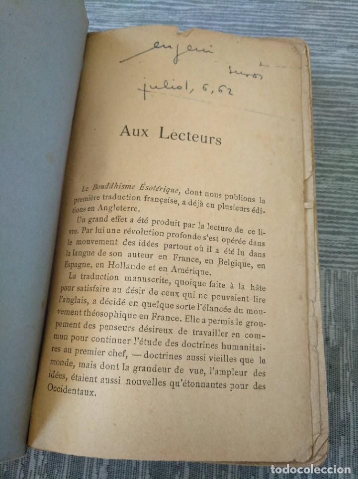 Libros antiguos: MUY RARO: EL BUDISMO ESOTÉRICO O EL POSITIVISMO HINDÚ (PARIS, 1890) - Foto 2 - 221443401