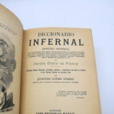 Livres anciens: DICCIONARIO INFERNAL 1913 Y LA SABIDURÍA DE LA VIDA 1970.. Lote 224190183