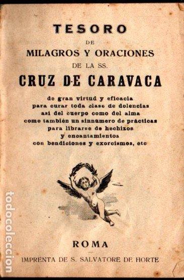 Libros antiguos: TESORO DE MILAGROS Y ORACIONES DE LA SANTA CRUZ DE CARAVACA - S. SALVATORE DE HORTE - LACRADO - Foto 2 - 224519145