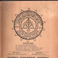 Libros antiguos: JOAQUIN TRINCADO : VOZ DEL ESPIRITISMO TOMO I (1926). Lote 224970538