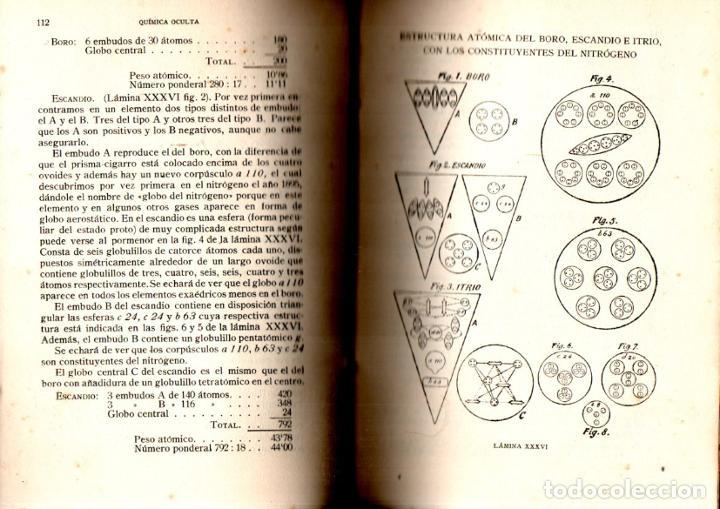 Libros antiguos: BESANT Y LEADBEATER , QUÍMICA OCULTA (MAYNADÉ, 1920) DEDICATORIA DEL TRADUCTOR CLIMENT TERRER - Foto 2 - 225027905