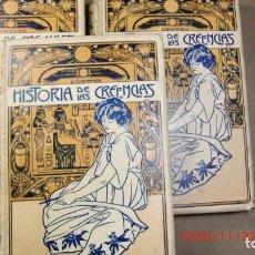 Libros antiguos: HISTORIA DE LAS CIENCIAS-3 TOMOS-SUPERSTICIONES,USOS Y COSTUMBRES-AÑO 1904-ENVIO GRATUITO. Lote 225967365