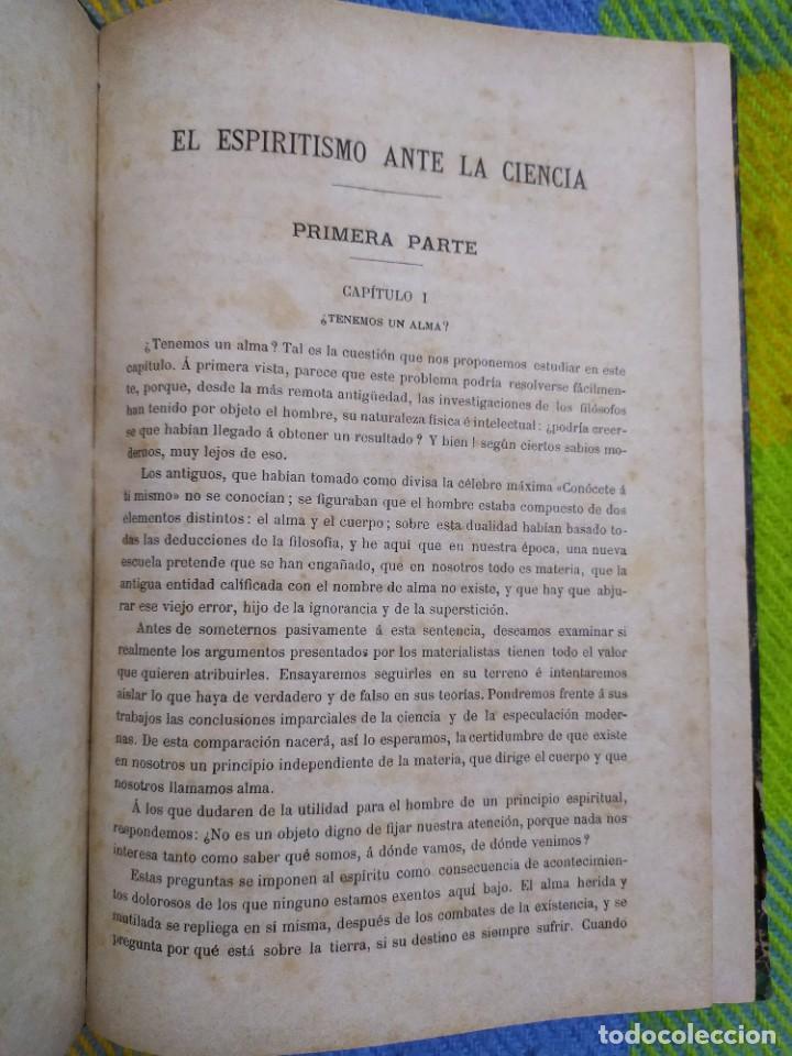 Libros antiguos: 1886. El espiritismo ante la ciencia. Gabriel Delanne. Raro. - Foto 2 - 226036480