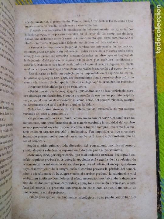 Libros antiguos: 1886. El espiritismo ante la ciencia. Gabriel Delanne. Raro. - Foto 3 - 226036480