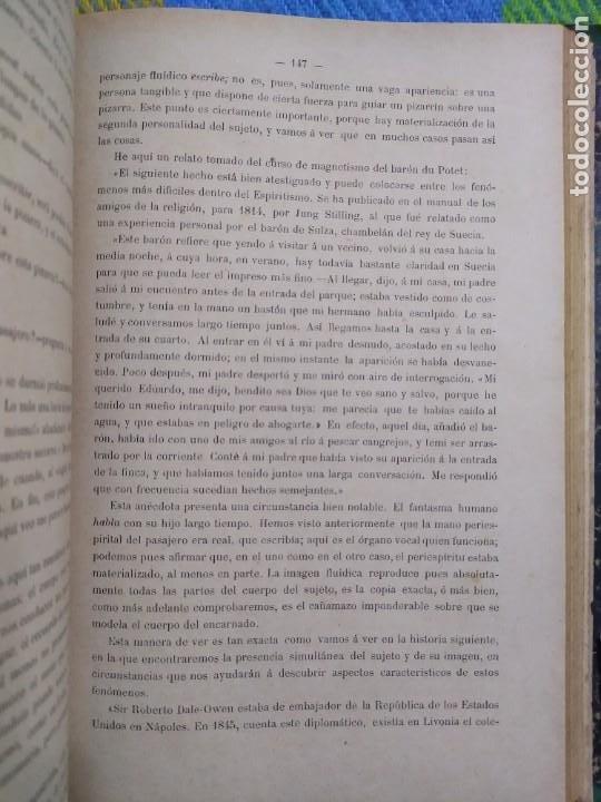 Libros antiguos: 1886. El espiritismo ante la ciencia. Gabriel Delanne. Raro. - Foto 8 - 226036480