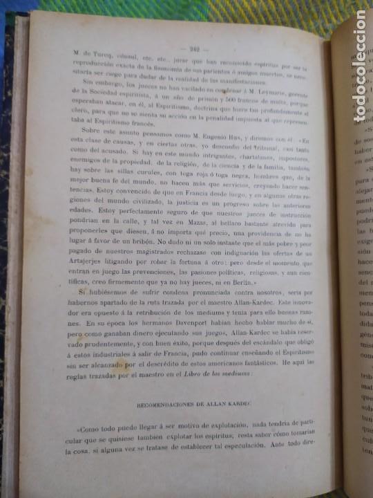 Libros antiguos: 1886. El espiritismo ante la ciencia. Gabriel Delanne. Raro. - Foto 10 - 226036480