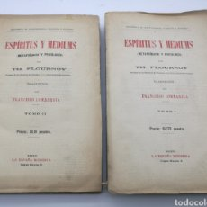 Livres anciens: ESPÍRITUS Y MEDIUMS METAFISICA Y PSICOLOGÍA AÑO 1916. Lote 226250130