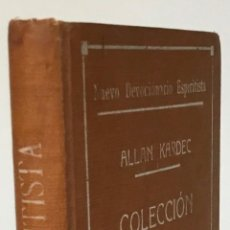 Libros antiguos: NUEVO DEVOCIONARIO ESPIRITISTA. COLECCIÓN DE ORACIONES ESCOGIDAS. - KARDEC, ALLAN.. Lote 227961965