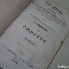 Libros antiguos: LIBRO TAPAS PIEL..... EXORCISMOS Y BENDICIONES....NOVA COLLECTIO BENEDICTIONUM...AÑO.1844. Lote 228448890