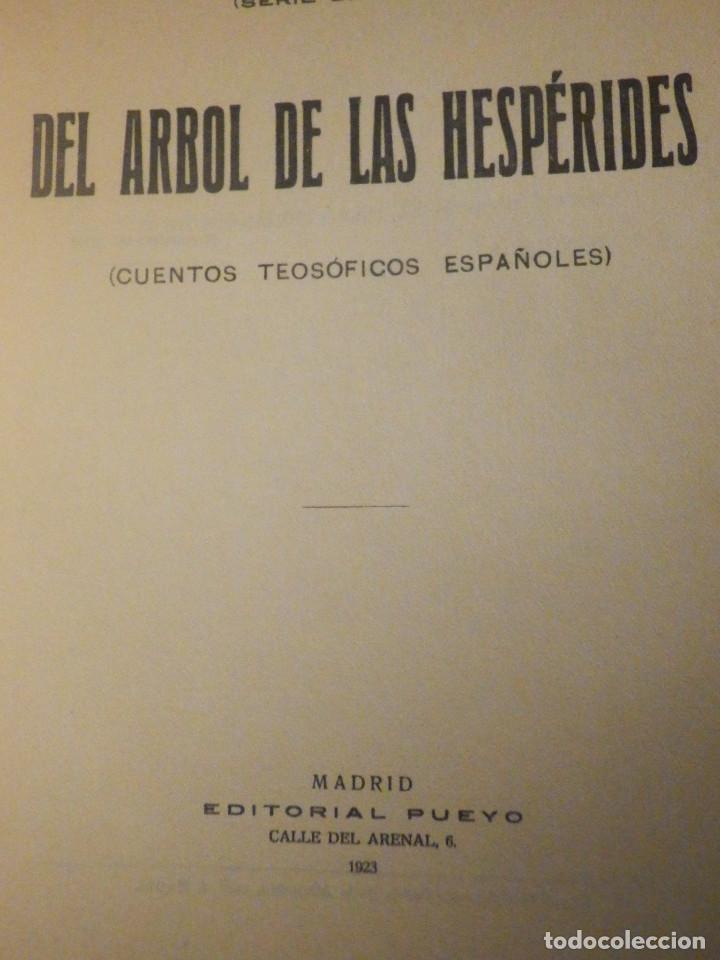 Libros antiguos: DEL ARBOL DE LAS HESPÉRIDES - MARIO ROSO DE LUNA - Año 1923 - Pueyo - Cuentos teosóficos Españoles - Foto 3 - 233322545