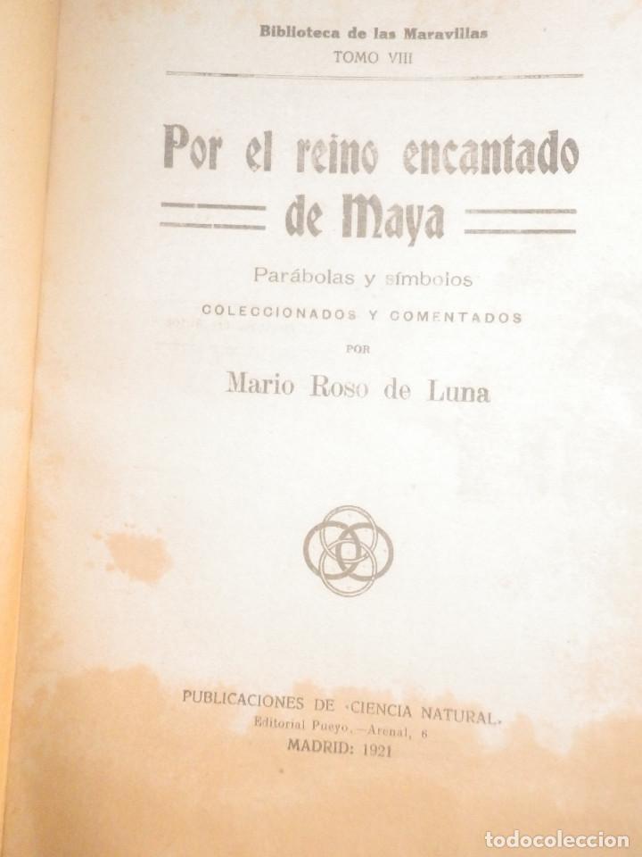 Libros antiguos: Por el Reino encantado de Maya - MARIO ROSO DE LUNA - Pueyo año 1924 - Parábolas y Símbolos - Foto 2 - 233324280