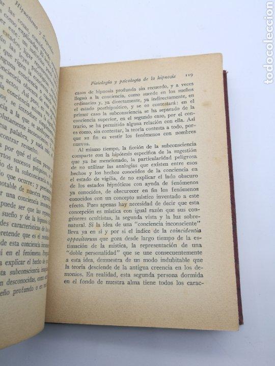 Libros antiguos: Hipnotismo y sugestión por W Wundt - Foto 4 - 234562730