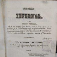Libri antichi: DICCIONARIO INFERNAL - TOMO 2 - EDICIÓN AÑO 1842. Lote 235643160