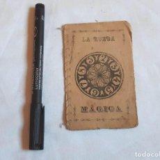 Livros antigos: PEQUEÑO LIBRO ADIVINATORIO. LA RUEDA MÁGINA. LIBRERÍA DE OCASIÓN. PEZ 1. MADRID. PUBLICIDAD.. Lote 238005915