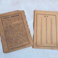 Livros antigos: TABLAS NUMÉRICAS PARA ADIVINAR LA EDAD, DINERO O CUALQUIER OBJETO. LENCINA, MADRID. INCOMPLETO.. Lote 238012350