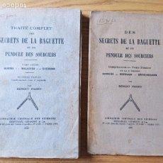 Livres anciens: ZAHORI, TRAITE COMPLET DES SECRETS DE LA BAGUETTE ET DU PENDULE DES SOUCIERS, BENOIT PADEY, 1929. Lote 273267793