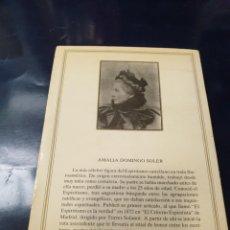 Libros antiguos: CUENTOS ESPIRITISTAS AMALIA DOMINGO SOLER. Lote 243627620