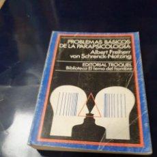 Libros antiguos: PROBLEMAS BÁSICOS DE LA PARAPSICOLOGIA ALBERT FREIHERR. Lote 243628475